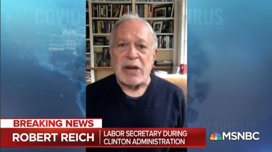 Robert Reich on MSNBC